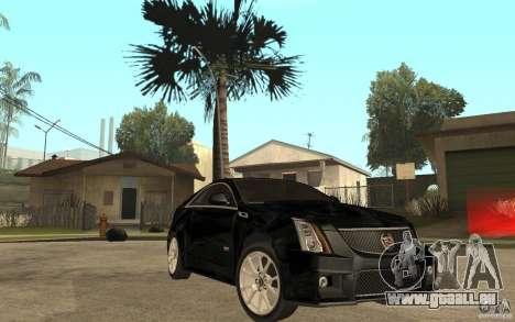 Cadillac CTS V Coupe 2011 für GTA San Andreas Rückansicht