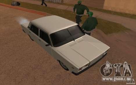 VAZ 2107 pour GTA San Andreas vue de dessus