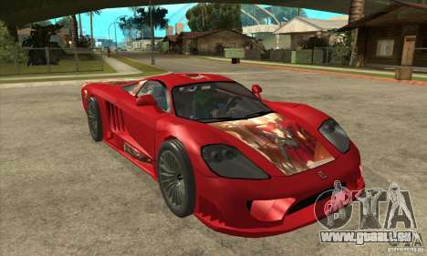 Saleen S7 Twin Turbo Custom Tuned pour GTA San Andreas vue arrière