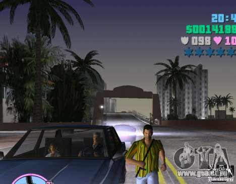 Hawaiihemd-Streifen. für GTA Vice City zweiten Screenshot