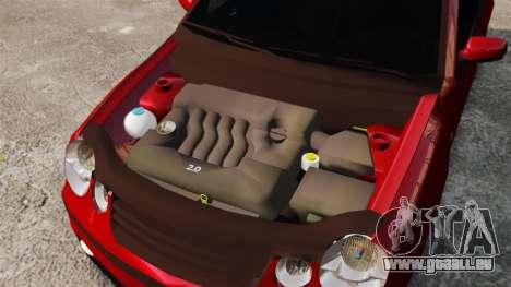 Volkswagen Polo Edit pour GTA 4 est une vue de l'intérieur