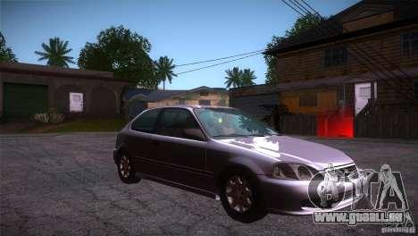 Honda Civic Tuneable für GTA San Andreas Rückansicht