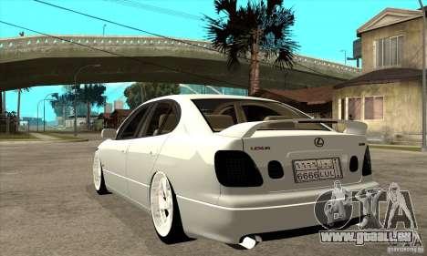 Lexus GS300 V 2003 pour GTA San Andreas vue de droite