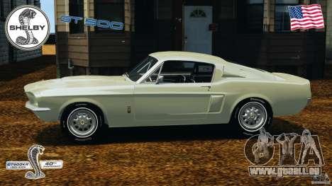 Shelby GT 500 pour GTA 4 est une gauche
