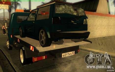 3302-Gazelle 14 Abschleppwagen für GTA San Andreas rechten Ansicht