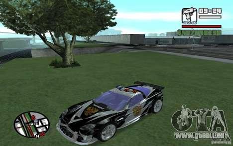Cross Corvette C6R Englisch für GTA San Andreas Rückansicht