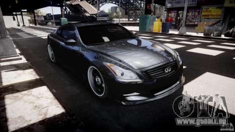Infiniti G37 Sport 2008 JDM Tune (Beta) pour GTA 4