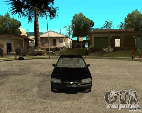 2003 Chevrolet Impala SS pour GTA San Andreas vue arrière