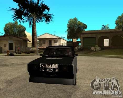 ВАЗ 2107 drift für GTA San Andreas Rückansicht