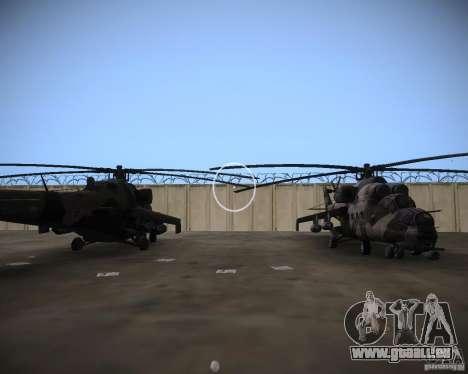 Mi-35 pour GTA Vice City vue latérale