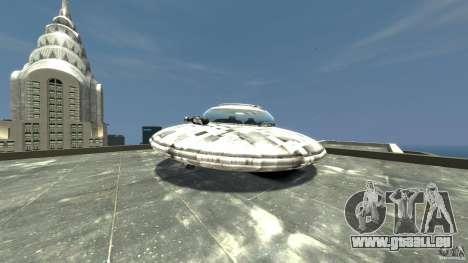 UFO ufo textured pour GTA 4 Vue arrière de la gauche
