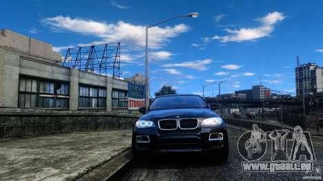 BMW X6 2013 pour GTA 4 Vue arrière