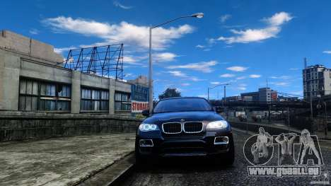 BMW X6 2013 für GTA 4 Rückansicht