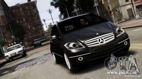Mercedes Benz A200 Turbo 2009 pour GTA 4 Vue arrière