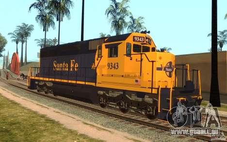 Lokomotive SD 40 Santa Fe blau/gelb für GTA San Andreas
