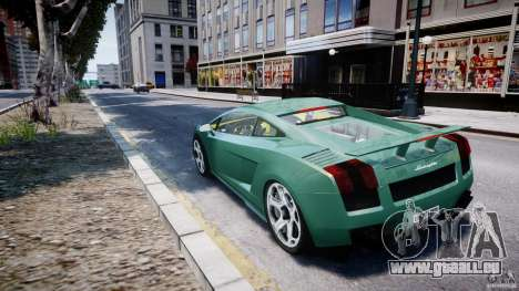 Lamborghini Gallardo pour GTA 4 Vue arrière de la gauche