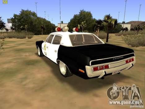 AMC Matador SA Police 1971 Final pour GTA San Andreas laissé vue