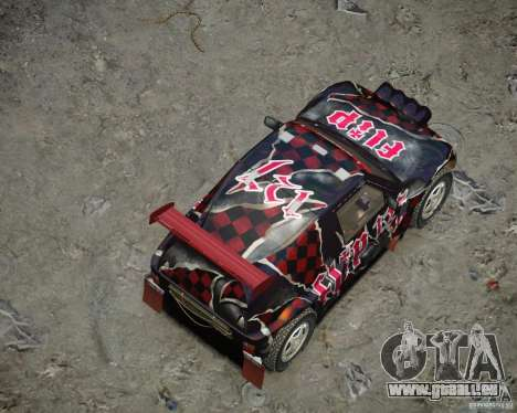 Mitsubishi Pajero Proto Dakar vinyle 3 pour GTA 4 est une vue de dessous