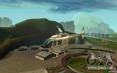 Bell 206 B Police texture4 pour GTA San Andreas