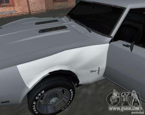 Chevrolet Camaro SS pour GTA San Andreas vue de dessus