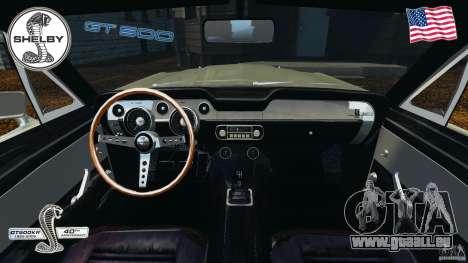Shelby GT 500 pour GTA 4 Vue arrière