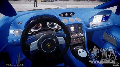 Lamborghini Gallardo LP560-4 Polizia pour GTA 4 Vue arrière