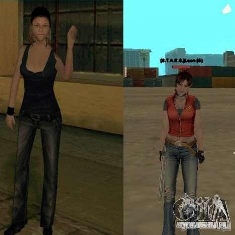 Pak personnages de Resident Evil pour GTA San Andreas cinquième écran