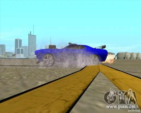 Plymouth Hemi Cuda de NFS Carbon pour GTA San Andreas vue de côté
