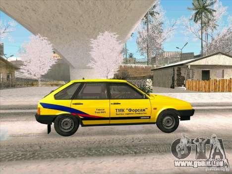 VAZ 21093i TMK Afterburner pour GTA San Andreas sur la vue arrière gauche