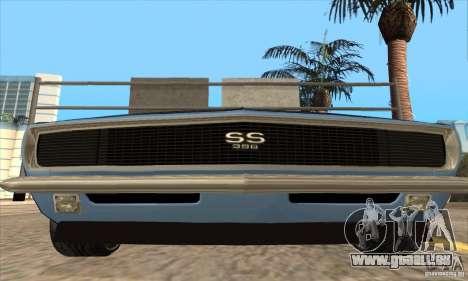 Chevrolet Camaro SS 1967 pour GTA San Andreas vue de dessous