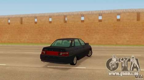 VAZ 2110 pour GTA San Andreas laissé vue