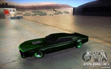 Ford Mustang RTR Drift für GTA San Andreas Innenansicht