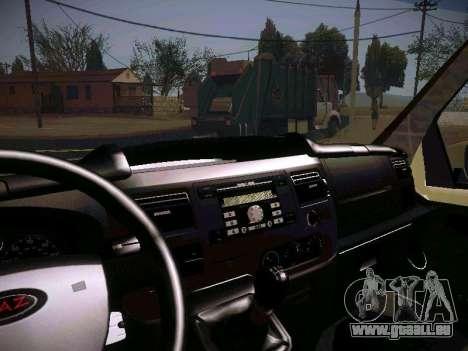 GAZ 2217 Business pour GTA San Andreas vue de côté
