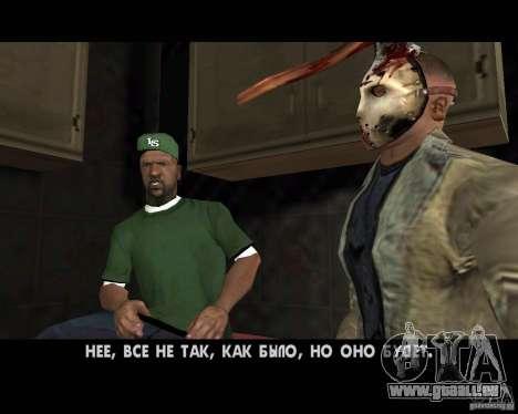 Jason Voorhees pour GTA San Andreas huitième écran