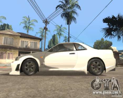 Nissan Skyline R-34 TUNED für GTA San Andreas linke Ansicht