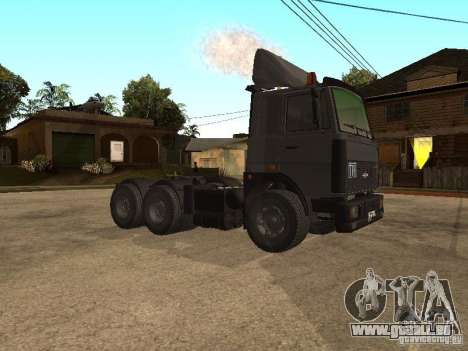 Camion MAZ 5336 pour GTA San Andreas laissé vue