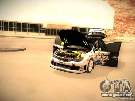 Subaru Impreza Gymkhana für GTA San Andreas Rückansicht