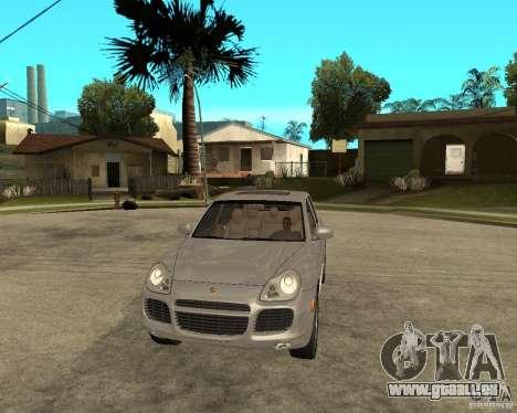 Porsche Cayenne Turbo pour GTA San Andreas vue arrière