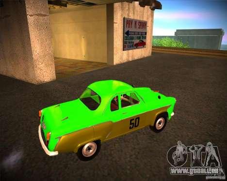 Moskvitch 407G pour GTA San Andreas sur la vue arrière gauche