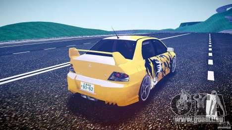 Mitsubishi Lancer Evolution pour GTA 4 Vue arrière de la gauche