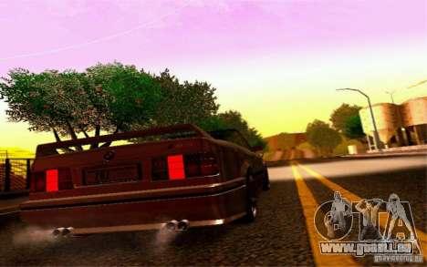 BMW E30 M3 Cabrio pour GTA San Andreas vue arrière