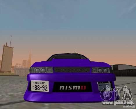 Nissan Silvia S13 Nismo tuned pour GTA San Andreas sur la vue arrière gauche