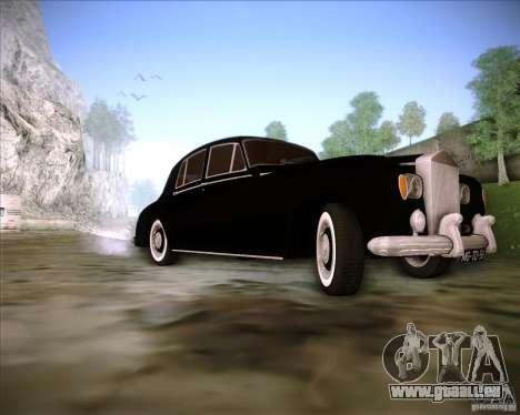 Rolls Royce Silver Cloud III pour GTA San Andreas vue intérieure