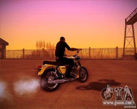 Triumph Bonneville pour GTA San Andreas laissé vue