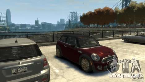 Mini John Cooper Works 2009 pour GTA 4 Vue arrière de la gauche