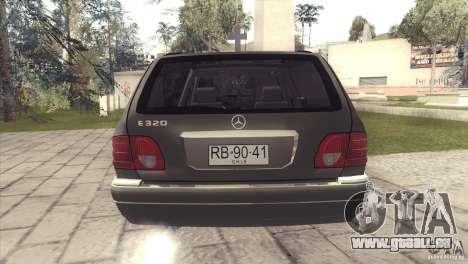 Mercedes-Benz E320 Funeral Hearse für GTA San Andreas Innenansicht