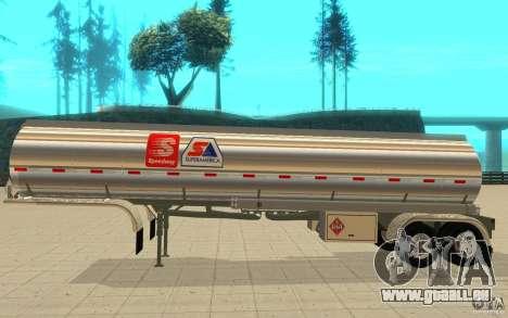 Semi-Petrotr für GTA San Andreas zurück linke Ansicht