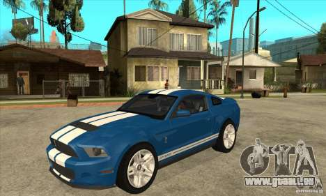 Ford Mustang Shelby GT500 2011 pour GTA San Andreas