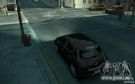 Nissan Leaf 2011 pour GTA 4 Vue arrière de la gauche