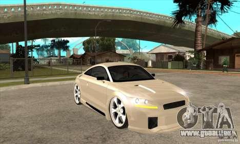 Audi TT Quattro 2007 pour GTA San Andreas vue arrière